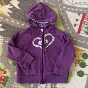 Wonder kids Toddler Girls Zip Up Hoodie Purple